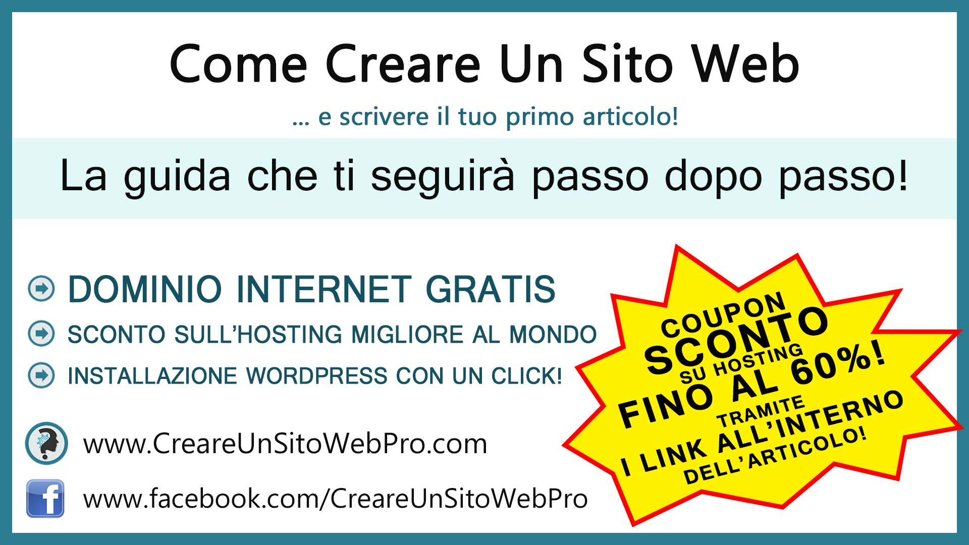 Come Creare Un Sito Web Acquisto Del Dominio, Spazio Hosting, Installazione Wordpress. COUPON SCONTO SU HOSTING!