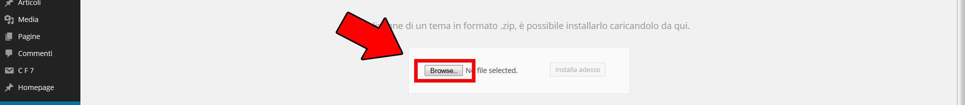 cercare tema wordpress