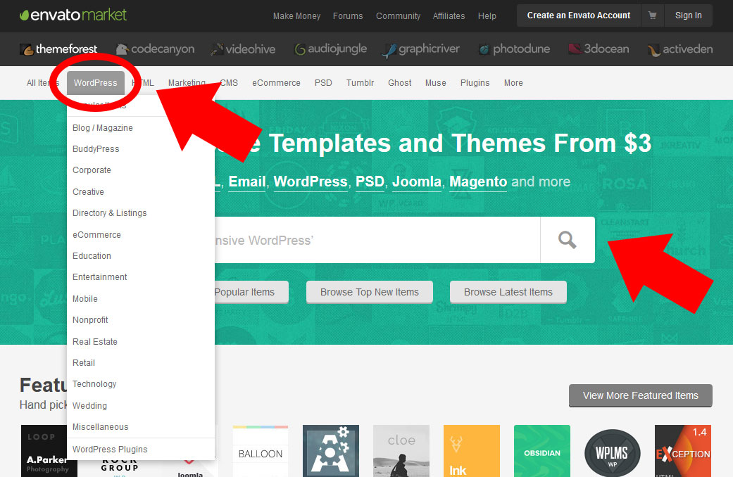 scegliere tema wordpress su themeforest
