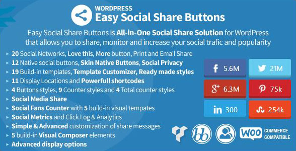 Easy Social Share Buttons for WordPress Italiano
