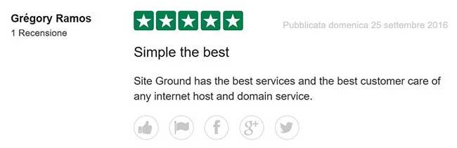 Aruba Vs Siteground, sfida tra opinioni.