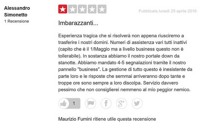 Siteground vs aruba: Opinione su Aruba hosting da TrustPilot