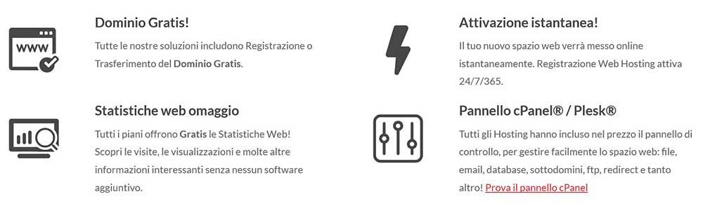 Cosa offre KeliWeb hosting