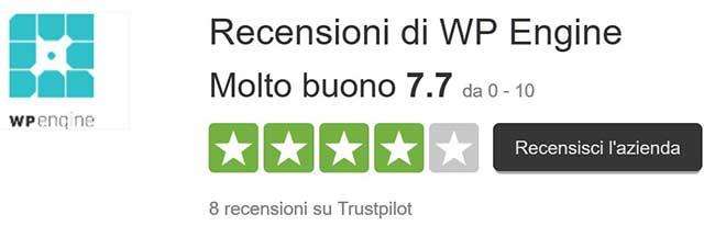 Recensioni TrustPilot WpEngine
