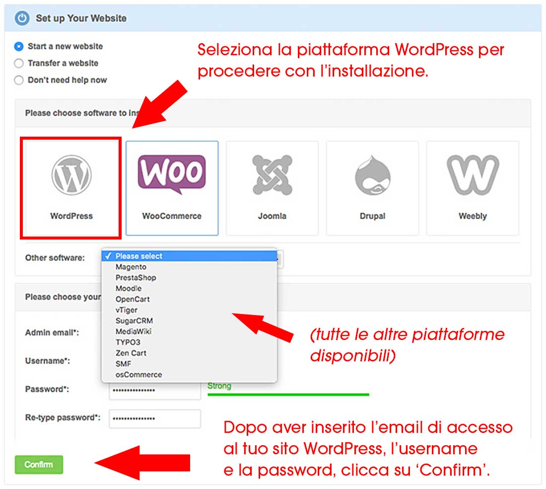 installazione wordpress siteground.it