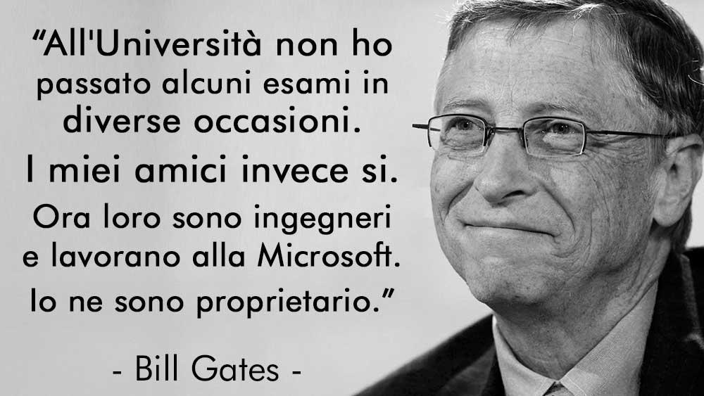Bill Gates Aforisma Università