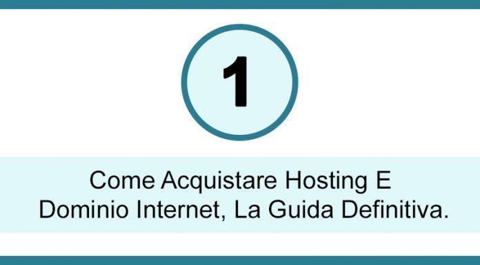 come acquistare hosting e dominio internet