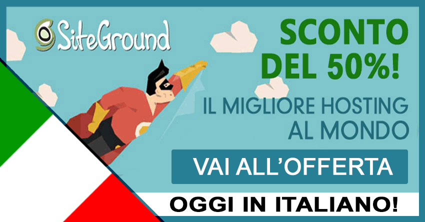 miglior hosting wordpress recensione siteground italiano 2017
