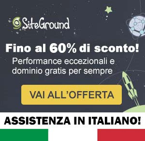 siteground italiano sconto 60%